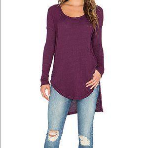 Free People Ventura Sweater Purple High Low